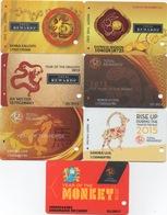 Série De 7 Cartes : Total Rewards 40 Casino S : Ans Tigre (2010) - Singe (2016) - Cartes De Casino