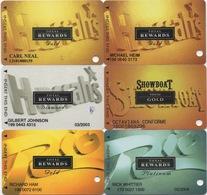 Lot De 6 Cartes : Total Rewards : Harrah's - Showboat - Rio Casino S - Cartes De Casino