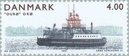 2001 4.00k Ferry Boat Ouro MNH - Danimarca