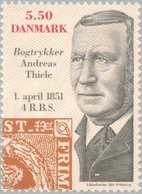 2001 5.50k Stamp Engraver MNH - Danimarca