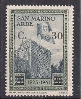 "SAN MARINO 1942 FRANCOBOLLO DELLA SERIE ""ARBE"" SOPRASTAMPATO SASS. 226 MLH VF - Nuovi"