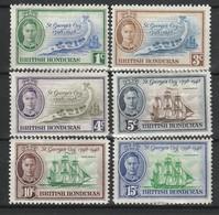 HONDURAS BRITANNIQUE 1948 YT N° 134 à 139 * - Britisch-Honduras (...-1970)