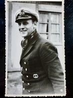 GERMAN Photo WW2 WWII ARCHIVE : Officier U-BOAT  _ KRIEGSMARINE - Guerre, Militaire