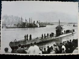 GERMAN Photo WW2 WWII ARCHIVE : U-BOAT _ Arrivée Au Port _ KRIEGSMARINE - Guerre, Militaire