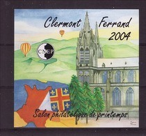 FRANCE - CNEP - Bloc Neuf Xx - Salon Philatélique De Printemps Clermont Ferrand 2004 - CNEP