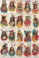 23 Images  De Chefs Indiens. - Collections & Lots
