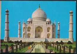 °°° 21060 - INDIA - TAJ MAHAL , AGRA - With Stamps °°° - India