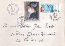 FRANCE - Lettre - Vignette Contre La Tuberculose Timbre Auguste Renoir - Obl 26-11-1968 - France