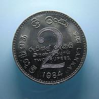 Sri Lanka 2 Rupees 1984 Varnished - Sri Lanka