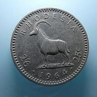 Rhodesia 25 Cents 1964 - Rhodesien