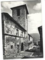 5123 - ACCUMOLI RIETI PALAZZETTO DEL PODESTA' E TORRE CIVICA AUTOMOBILI AUTO 1960 CIRCA - Italia