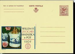 Publibel Neuve N° 2264  ( WILLEM II 25 Cigars Fantastica + Pot ( Roses - Moulin - Tabac - Tabak ) - Werbepostkarten