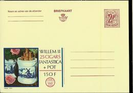 Publibel Neuve N° 2266  ( WILLEM II 25 Cigars Fantastica + Pot ( Roses - Moulin - Tabac - Tabak ) - Werbepostkarten