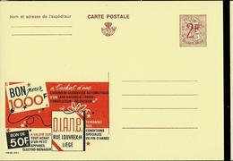 Publibel Neuve N° 2270  ( Bon Pour 1000 F  Chez D.I.A.N.E. - Liège) - Werbepostkarten