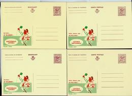 Publibel Neuve N° 2277/80  ( Loterie Nationale - Nationale Loterij)  4 Exemplaires Différentes - Werbepostkarten