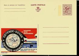 Publibel Neuve N° 2296 ( OSTENDE - DOVER - OSTENDE - HARWICH) - Werbepostkarten