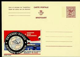 Publibel Neuve N° 2297 ( OSTENDE - DOVER - OSTENDE - HARWICH) - Werbepostkarten