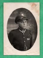 Photographie Photography Militaria Soldat Polonais Polish Soldier Zaklad Fotograficzny Sznajder  ( Format 8,3cm X 12cm ) - Guerre, Militaire
