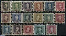 Romania 1917 KuK Military Post 17v, (Unused (hinged)), Stamps - Briefmarken