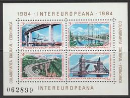 2 BLOCS NEUFS DE ROUMANIE - PONTS N° Y&T 166/167 - Brücken