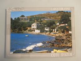 COTE D'AZUR CARQUEIRANNE FRANCE PLAGE BEACH SEA BOAT POST VINTAGE POSTCARD PC TOURISM - Postcards