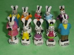 Série De Fèves Complète : Zou , Portrait De Famille , Zèbre - Animals
