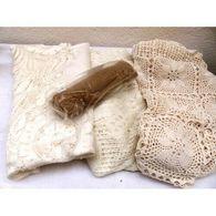 Nappe Broderie Crochet Mercerie Vintage - Habits & Linge D'époque
