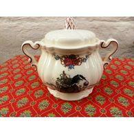 Sucrier Sarreguemines Porcelaine Alsace - Autres Collections
