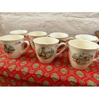 Tasses Sarreguemines Porcelaine Alsace - Autres Collections
