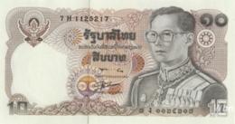 Thailand 10 Baht (P87) Sign 56 -UNC- - Tailandia