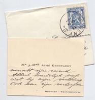 Visitekaartje - Carte Visite - Mr Aimé Grootaert - Drongen + Enveloppe - Cartes De Visite