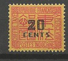 INDOCHINE  TAXE N° 71 NEUF** Gom Coloniale SANS CHARNIERE / MNH - Portomarken