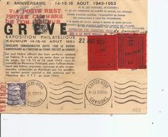 France ( Lettre De Période De Grève De 1953 à Voir) - Sciopero