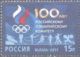 Mint Stamp 100th Anniversary Of The Russian Olympic Committee 2011 From Russia - Unused Stamps