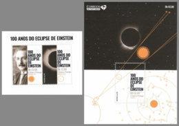 SAO TOME 2019 MNH Albert Einstein Eclipse Sonnenfinsternis M/S+S/S - OFFICIAL ISSUE - DH2008 - Albert Einstein