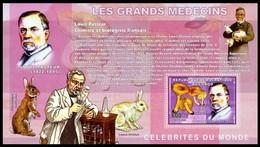 Congo 2006 MNH SS, Louis Pasteur,  Vaccines Rabies & Anthrax, Disease, Medicine - - Louis Pasteur