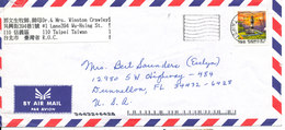 Taiwan Air Mail Cover Sent To USA 30-8-1999 Single Franked - 1945-... Republic Of China