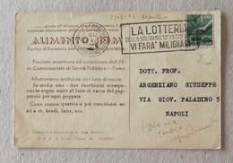 """Cartolina Postale Pubblicitaria """"Alimento Spem"""" Napoli Per Città - 23/06/1946 - 6. 1946-.. Repubblica"""