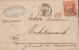 1865 AMIENS Bf M. Inh. (PD Rot) N. Echternach - 1849-1876: Période Classique