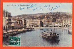 X34509 CETTE Sète Gabarre Gabare Fût Vin Le Canal Du MIDI 1910 à Charlotte FOSSAT Avenue Gravier Saint-Maurice Nice St - Sete (Cette)