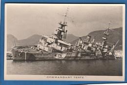 COMMANDANT TESTE SABORDAGE DE LA FLOTTE DE TOULON LE 27 NOVEMBRE 1942 BATEAUX ECHOUE - Warships