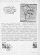 = Association Internationale Des Relations Publiques Collection Historique Du Timbre Poste 1er Jour Paris 10.6.80 N°2091 - Documents Of Postal Services