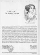= Château De Maintenon Collection Historique Du Timbre Poste 1er Jour Maintenon 7.6.80 N°2082 - Documents Of Postal Services