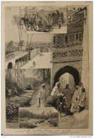 La Mer Intérieure D'Afrique - L'oasis De Tozer - Page Original 1883 - Documents Historiques