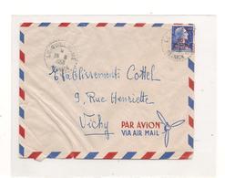 26-8-1958 ENVELOPPE DE LE GUILLAUME POUR VICHY (ALLIER) - Storia Postale