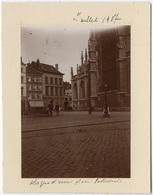 Liège,  Place Cathédrale, Juillet 1907, Tirage Original D'époque Au Citrate FG357 - Lieux
