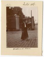 Liège,  Boulevard Pierco(t) , Juillet 1907, Tirage Original D'époque Au Citrate FG356 - Lieux