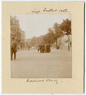 Liège,  Boulevard D'Avroy, Juillet 1907, Tirage Original D'époque Au Citrate FG351 - Lieux
