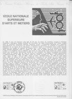 = Ecole National Supérieure Arts Et Métiers Collection Historique Du Timbre Poste 1er Jour Liancourt 17.5.80 N°2087 - Documents Of Postal Services
