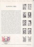 = Europa 1980 Aristide Briand Saint Benoît Collection Historique Du Timbre Poste 1er Jour Paris 26.4.80 N°2085 2086 - Documents Of Postal Services